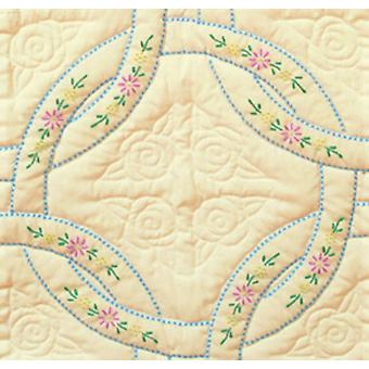 Stamped Ecru Quilt Blocks 18