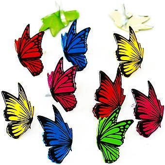 Eyelet Outlet Shape Brads 12/Pkg-Flying Butterflies QBRD2-22