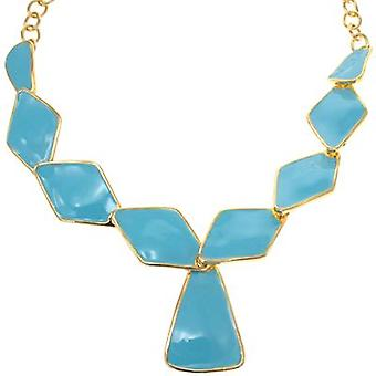 Kenneth Jay Lane Turquoise Rhomb Drop Necklace