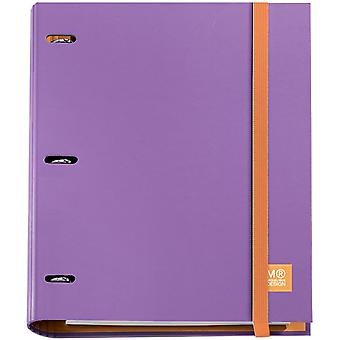 3-Ring Refillable Binder & 100 Sheets Of Paper-Lilac 147-14744