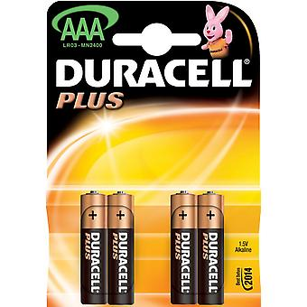 Batterie Duracell Plus Mn2400 R03 Aaa Bls4