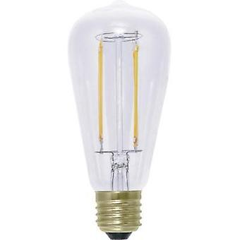 LED (monochrome) Segula 230 V E27 6 W = 40 W Warm white EEC: A+ Bulged (Ø x L) 62 mm x 142 mm dimmable, Filament 1 pc(s