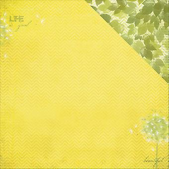 ScrapBerry's It's A Wonderful Life Dbl-Sided Cardstock 12x12-A Soft Breeze 608502