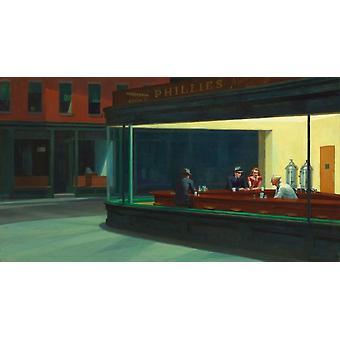 Nighthawks plakat Print af Edward Hopper (8 x 10)