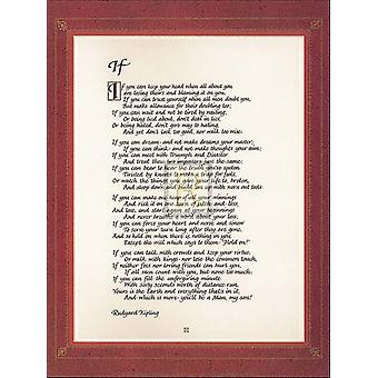 Hvis plakat Print af Rudyard Kipling (8 x 10)