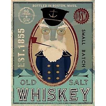 Fiskeren III gamle Salt whisky plakat Print af Fowler Ryan