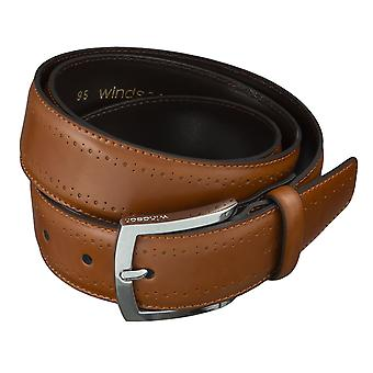 Windsor. Belts men's belts leather belt Cognac 4468