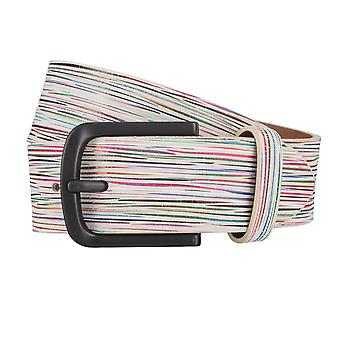ALBERTO stripy Golf belt mens belt leather belt beige 3945
