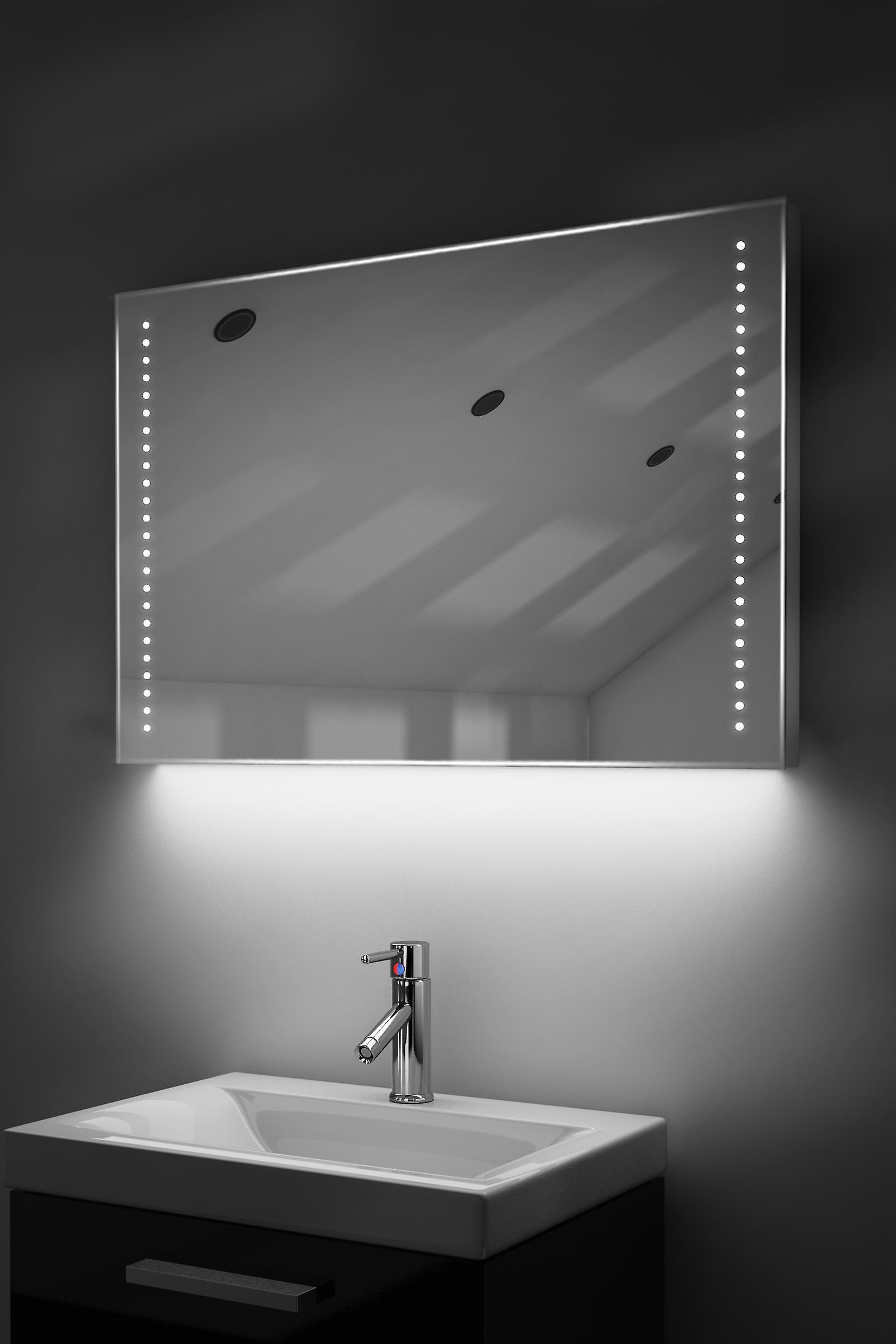 RGB k61rgb Ultra-Slim Bathroom Mirror With Demister & Sensor