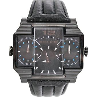Police mens watch wristwatch leather analog PL. 13088JSB/02