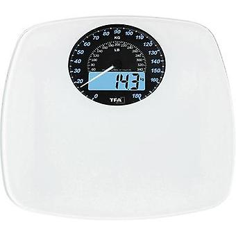 Digital bathroom scales TFA SWING Weight range=180 kg White