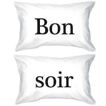 Bold Statement Pillowcases 300-Thread-Count Standard Size 20 x 31 - Bon Soir