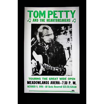 Tom Petty retro concert poster