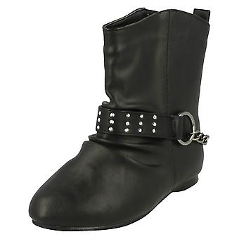Girls Spot On Flat Ankle Boot H4087