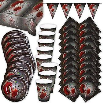 Bloody Halloween party box party package 38 pieces decoration set