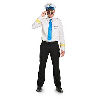 Pilot Flieger Pilotenkostüm Kostüm Herren Gr M/L