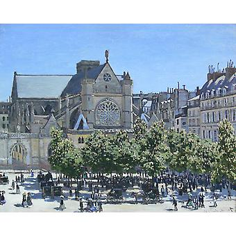 Claude Monet - Saint Germain Auxerrois Paris 1867 Poster Print Giclee