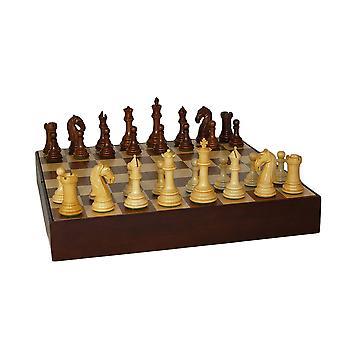 Sheesham Camelot Chess Set Walnut Chest Chess Set