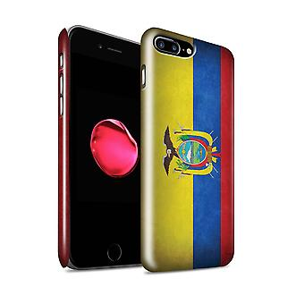 STUFF4 Glanz zurück Snap-On Handy Hardcase für Apple iPhone 7 Plus / Ecuador/ecuadorianischen Design / Flaggen Sammlung