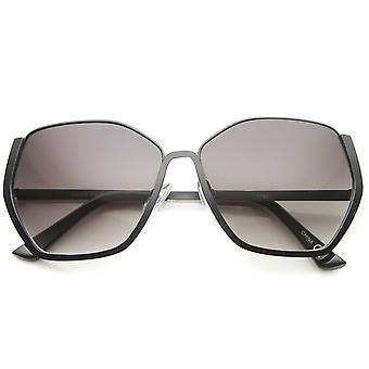Women's Semi-Rimless Hexagonal Geometric Oversize Sunglasses 59mm
