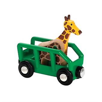 BRIO Safari Wagon and Giraffe 33724