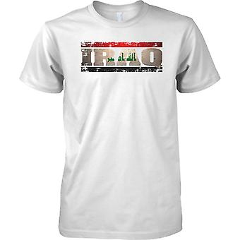 Iraq Grunge Country Name Flag Effect - Mens T Shirt
