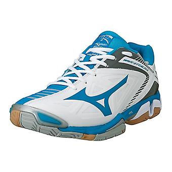 Mizuno AW14 Wave Stealth 3 Indoor Shoes - Womens - UK 8 - White/Blue