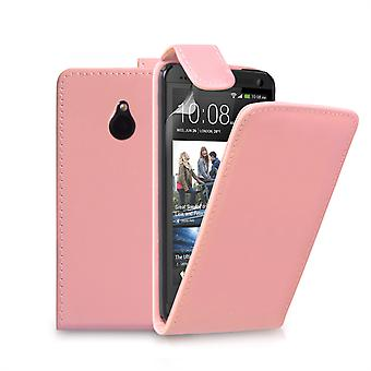 Custodia Flip Yousave accessori HTC One Mini in pelle-effetto