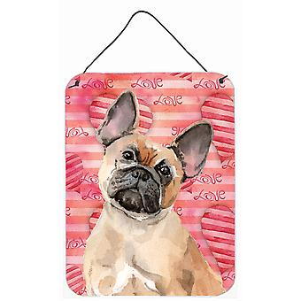 Fawn French Bulldog Love Wall or Door Hanging Prints
