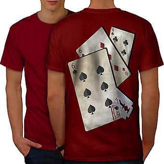 666 carte rasoio Casino uomini RedT-camicia Back | Wellcoda