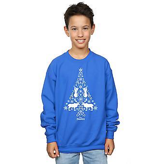 Disney Boys Frozen Christmas Tree Sweatshirt