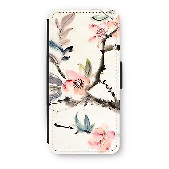 iPhone 5/5S/SE Flip Case - Japenese flowers