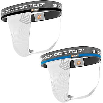Shock Doctor Core Supporter without Cup Pocket - White