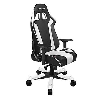 DX Racer DXRacer OH/KS06/NW High-Back Chairs Office Chair Carbon Look Vinyl+PU Desk Chair(Black/White)