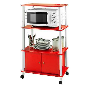 SoBuy Red Kitchen Storage Cabinet with Doors, FRG12-R
