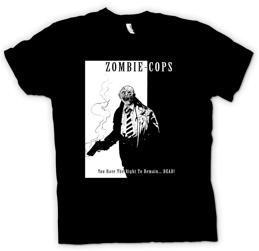 Mens T-shirt - Zombie Cops - Right To Remain Dead