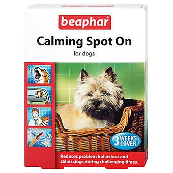 BEAPHAR CALMING SPOT ON FOR DOGS 3 WEEKS COVER REDUCES BEHAVIOUR PROBLEM, CALMS