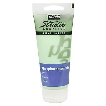 Pebeo Studio Acrylic 100ml Gel (Phosphorescent Green)