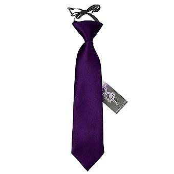 Pianura di viola raso elastico cravatta per i ragazzi
