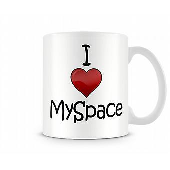Jeg elsker MySpace trykte krus