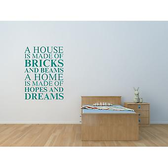 A house is made of Wall Art Sticker - Aqua Green