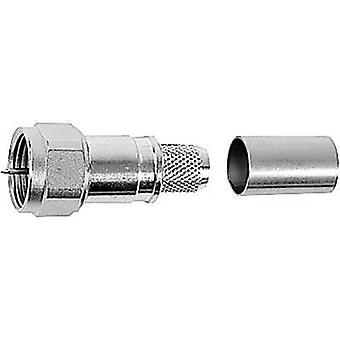 F connector Plug, straight 75 Ω Telegärtner J01600A0010 1 pc(s)