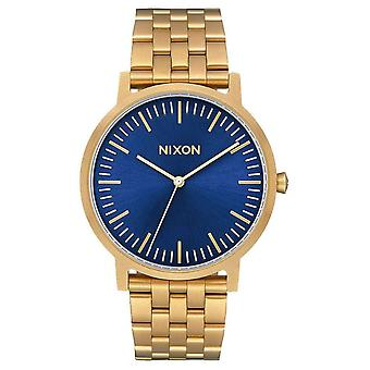 Nixon The Porter Watch - Gold/Blue Sunray