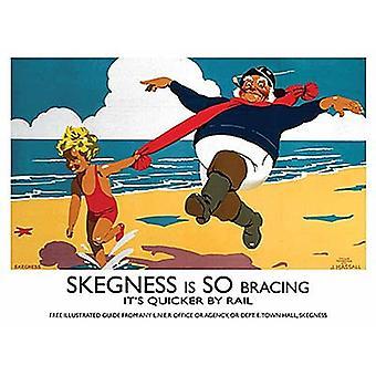Skegness also Verstrebungen (alte Schiene Ad.) Kleine Metall unterzeichnen 200 X 150 Mm