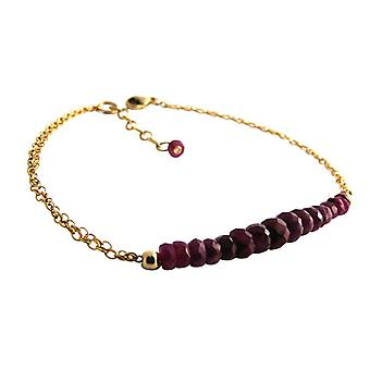 Ruby Red Ruby armband guld pläterad armband