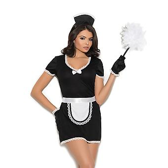 Womens Sexy Français Maid Costume de Halloween Roleplay