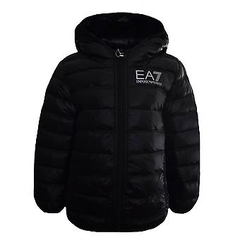 EA7 Boys Ea7 Kids Black Down Jacket