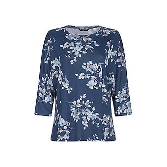 Panelled Floral Print Top