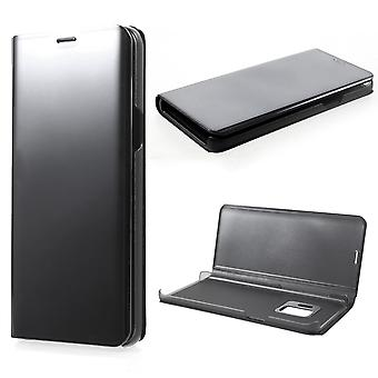 Samsung Galaxy S9 Plated Mirror Smart View Cover-Black