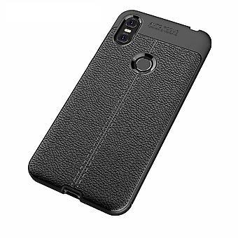 Motorola ein TPU Schale Litschi Textur-schwarz